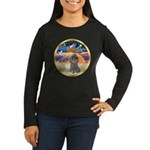XmasStar/Silver Poodle #8 Women's Long Sleeve Dark