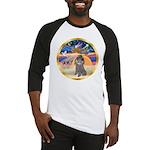 XmasStar/Silver Poodle #8 Baseball Jersey
