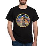 XmasStar/Silver Poodle #8 Dark T-Shirt