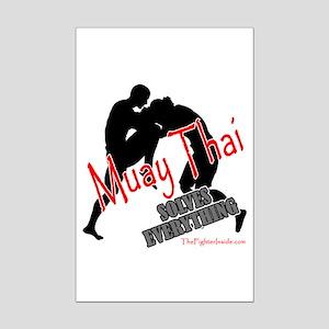 Muay Thai Solves Everything Mini Poster Print