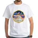 XmasStar/ Maltese # 11 White T-Shirt