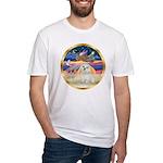 XmasStar/ Maltese # 11 Fitted T-Shirt