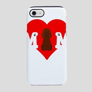 Dog Mom Heart Paw Prints Iri iPhone 8/7 Tough Case