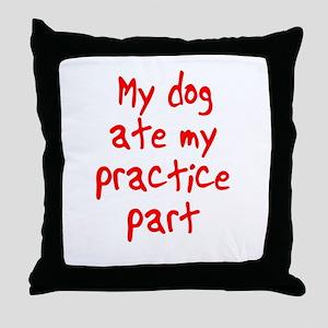 my dog ate my . . . Throw Pillow