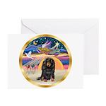 XmasStar/Dachshund LH Greeting Cards (Pk of 10)