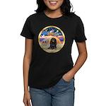 XmasStar/Dachshund LH Women's Dark T-Shirt