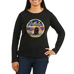XmasStar/Dachshund LH Women's Long Sleeve Dark T-S