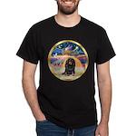 XmasStar/Dachshund LH Dark T-Shirt