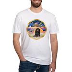 XmasStar/Dachshund LH Fitted T-Shirt