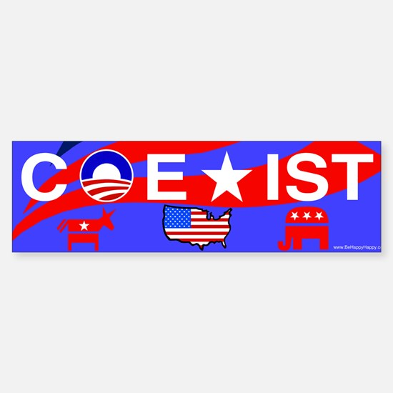 COEXIST - Patriotic sticker