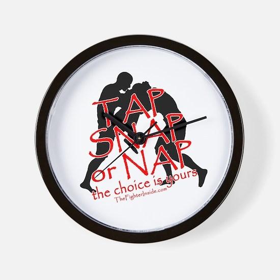TAP SNAP OR NAP, THE CHOICE I Wall Clock