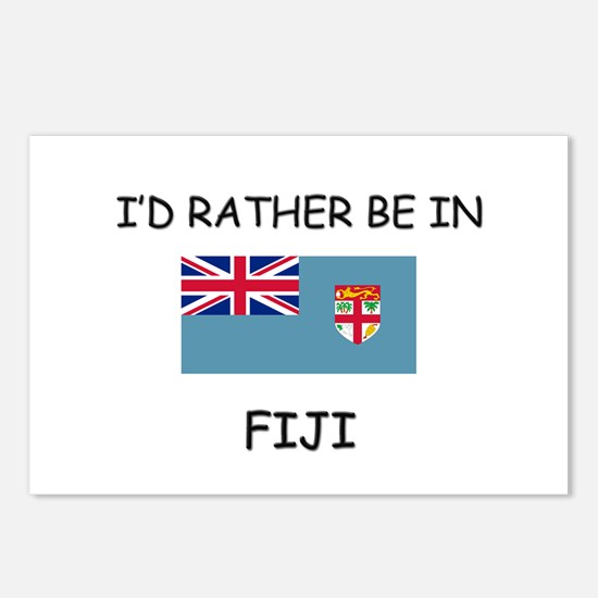 I'd rather be in Fiji Postcards (Package of 8)
