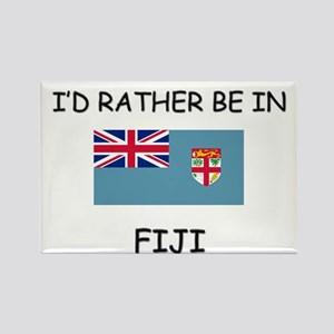 I'd rather be in Fiji Rectangle Magnet