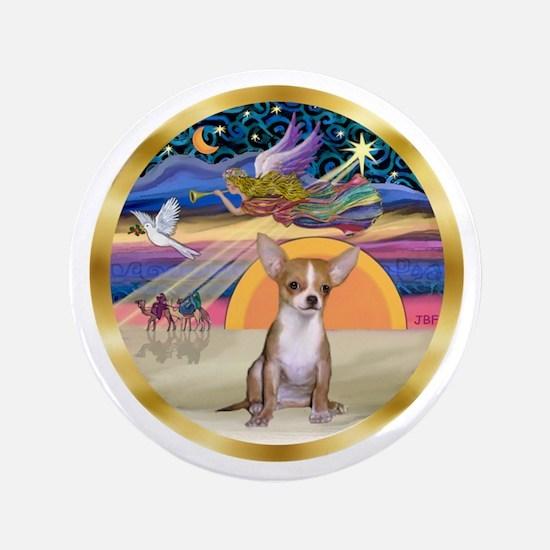 "XmasStar/Chihuahua #1 3.5"" Button"