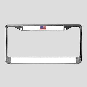 Obama Whitehouse USA heart FL License Plate Frame