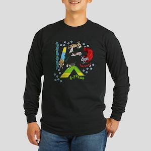 Four Agility Obstacles Long Sleeve Dark T-Shirt