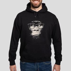 Hipster Gorilla With Glasses Sweatshirt
