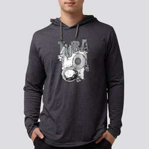 Sketchy Tuba Text and Pattern Long Sleeve T-Shirt