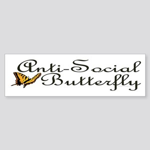 Anti-Social Butterfly Bumper Sticker