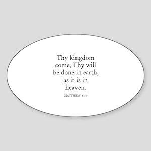 MATTHEW 6:10 Oval Sticker