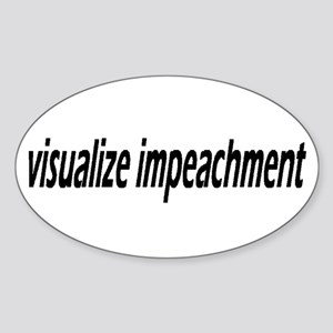 Visualize Impeachment Sticker (Oval)