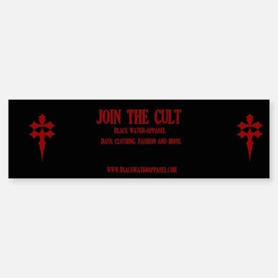 Black Water Apparel Cult - Bumper Bumper Bumper Sticker