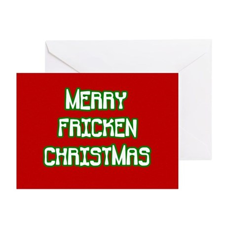 Merry Fricken Christmas Greeting Cards (Pk of 20)