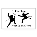 Hook Up and Score Rectangle Sticker