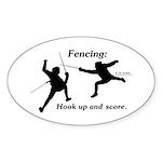 Hook Up and Score Oval Sticker (10 pk)