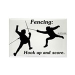 Hook Up and Score Rectangle Magnet (10 pack)