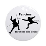 Hook Up and Score Ornament (Round)