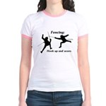 Hook Up and Score Jr. Ringer T-Shirt
