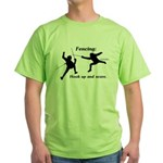Hook Up and Score Green T-Shirt