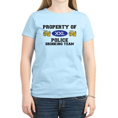 Property of Police Drinking Team Women's Light T-S