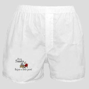 even santa enjoys porn Boxer Shorts