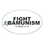 FIGHT OBAMUNISM Oval Sticker (50 pk)