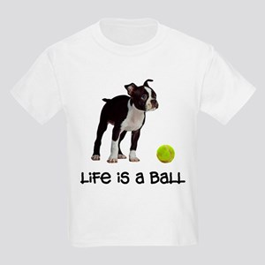 Boston Terrier Life Kids Light T-Shirt