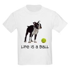 Boston Terrier Life Kids Light T-Shirt