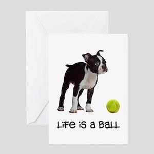 Boston Terrier Life Greeting Card