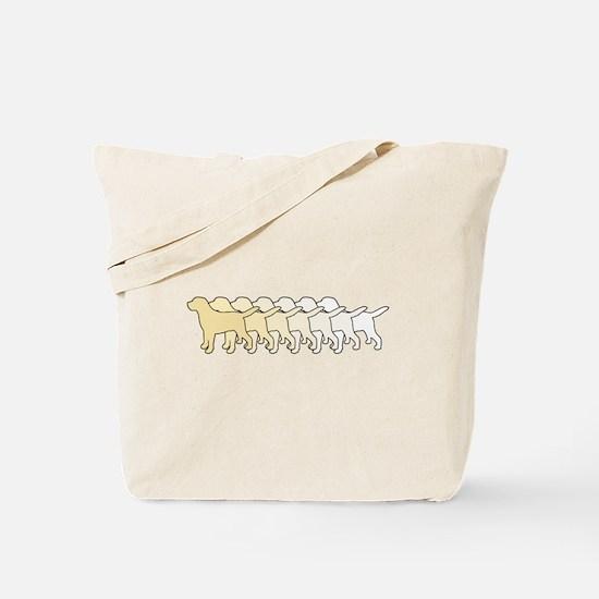 Yellow Gradient Labs Tote Bag