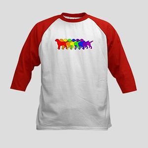 Rainbow Labradors Kids Baseball Jersey