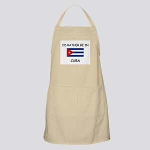 I'd rather be in Cuba BBQ Apron