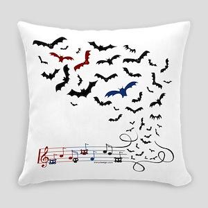 Bat Music Design Everyday Pillow
