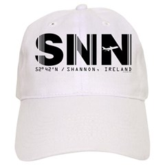 Shannon Airport Code Ireland SNN Baseball Cap