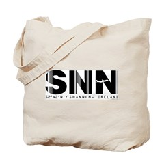 Shannon Airport Code Ireland SNN Tote Bag