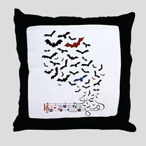 Bat Music Design Throw Pillow