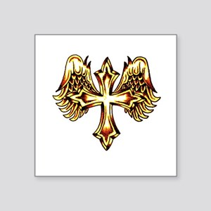 Cross with Angel Wigs Sticker