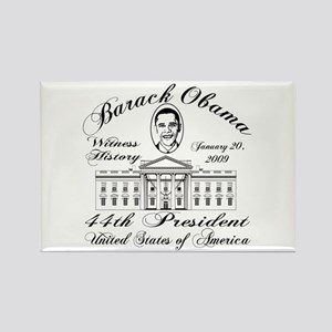 President Obama inauguration Rectangle Magnet