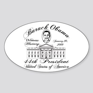 President Obama inauguration Oval Sticker