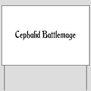 Cephalid Battlemage Yard Sign